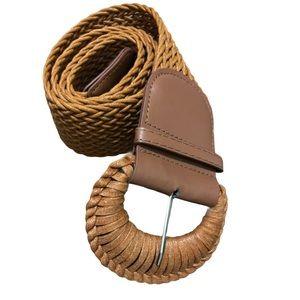 Boho Wide Woven Belt Sz M